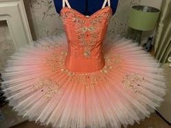 Peach and pink tutu