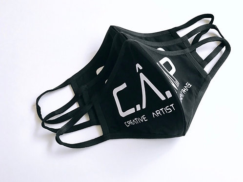 C.Â.M.P black and White Face mask