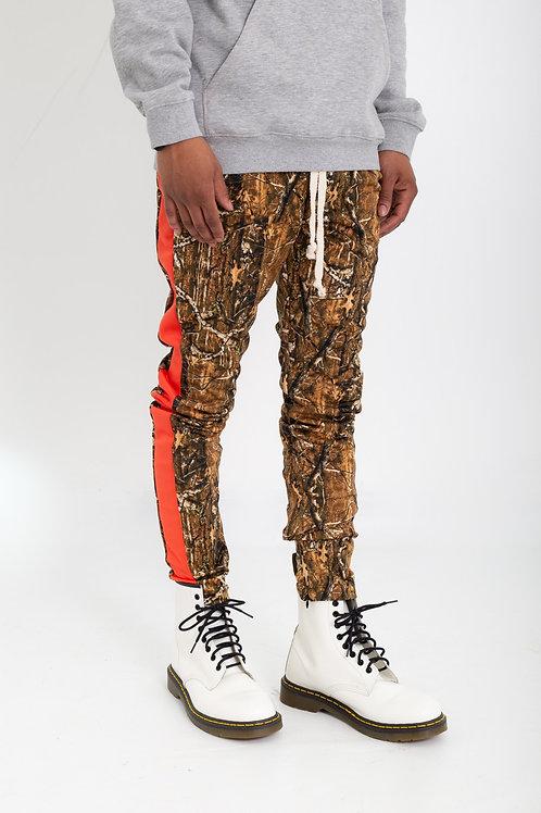Camouflage stick print joggers