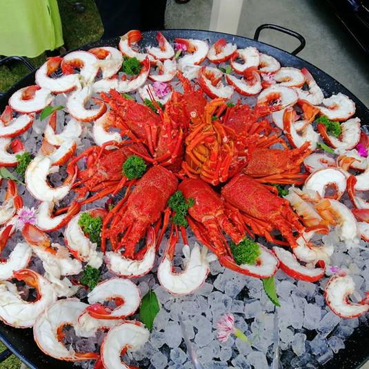 Iced crayfish