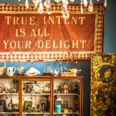Vintage Butlins banner in the Tea Room