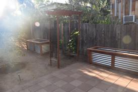 New custom raised beds with drip irrigation