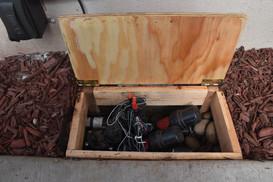 Custom valve box for a new drip irrigation system