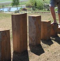 pillons de bois différentes hauteurs