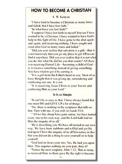 Tract-How To Become A Christian (Pack of 100)