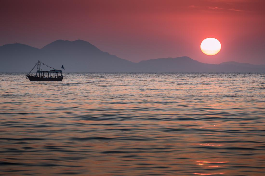 Coucher de soleil à Syvota, Grèce