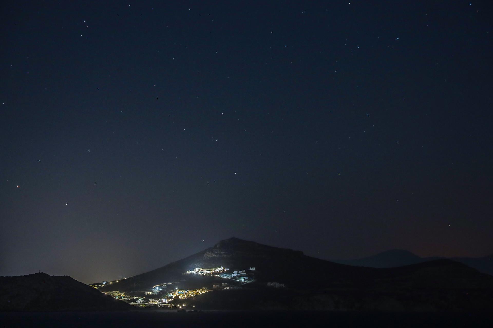 Niut étoilée dans les Cyclades, Grèce