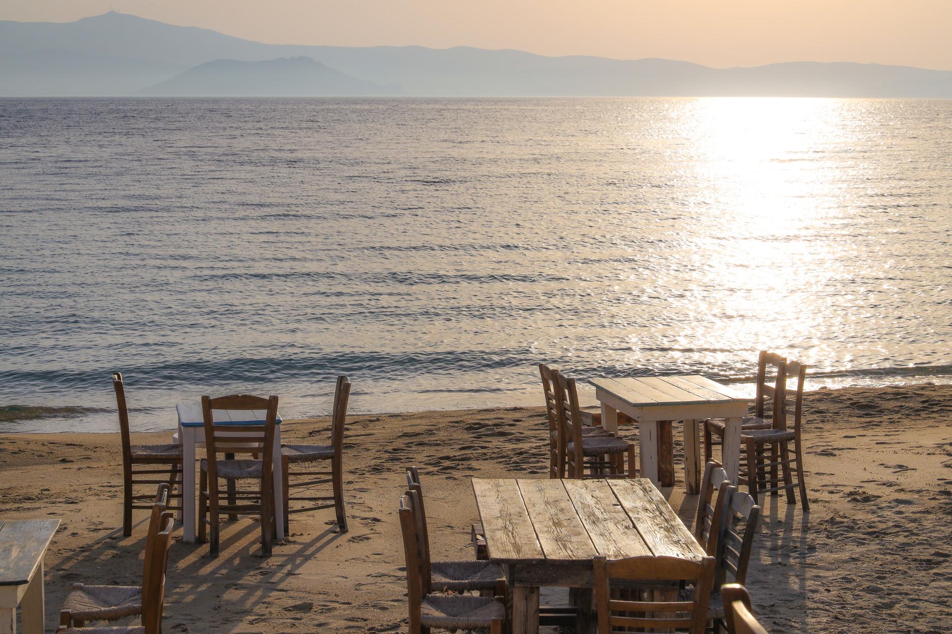 Crépuscule à Plaka beach, Naxos
