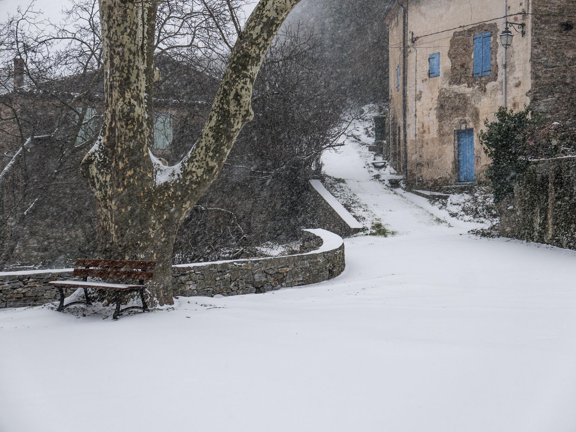 Un matin sous la neige, Hérault, France