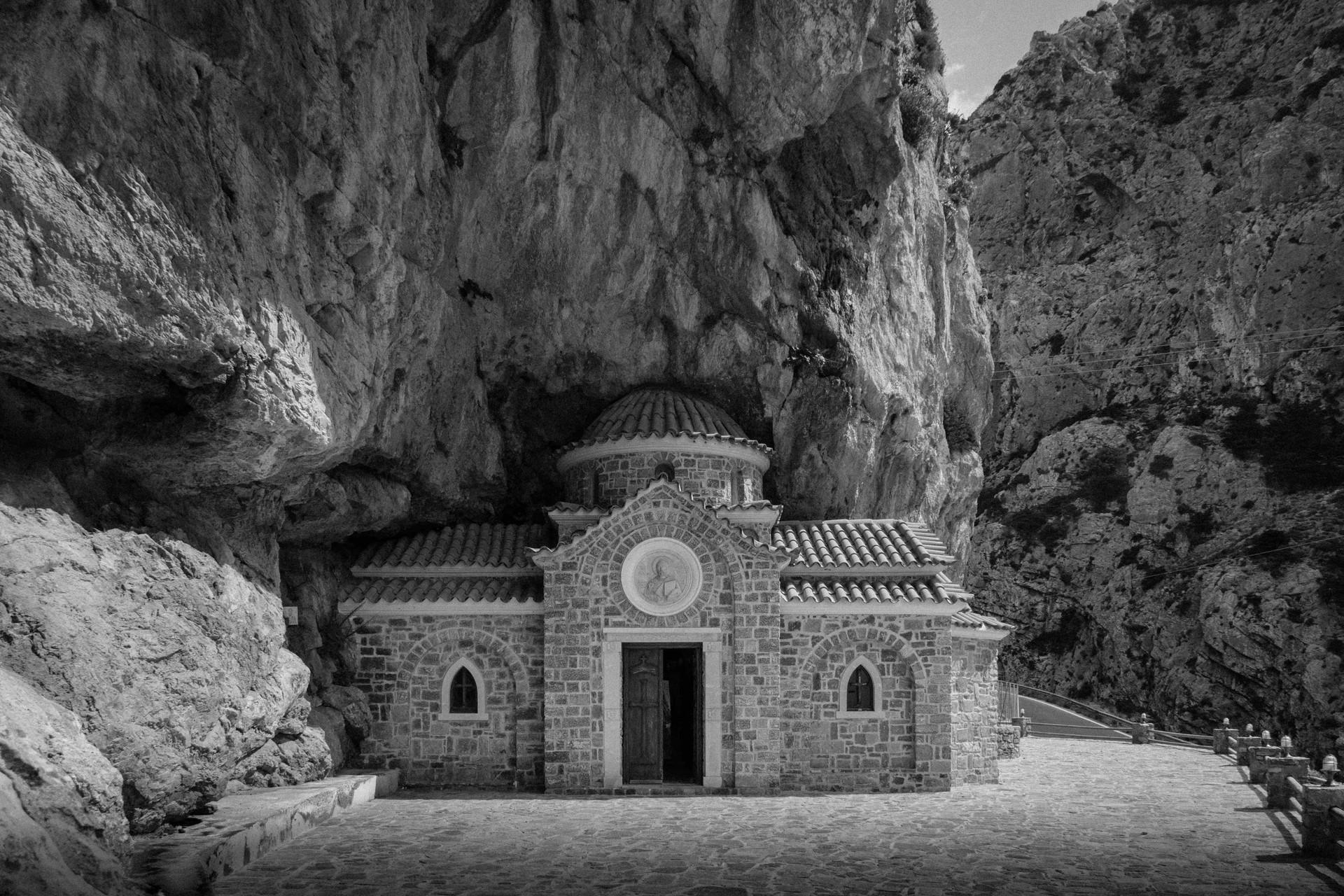 Chapelle sous la montagne, Crète, Grèce