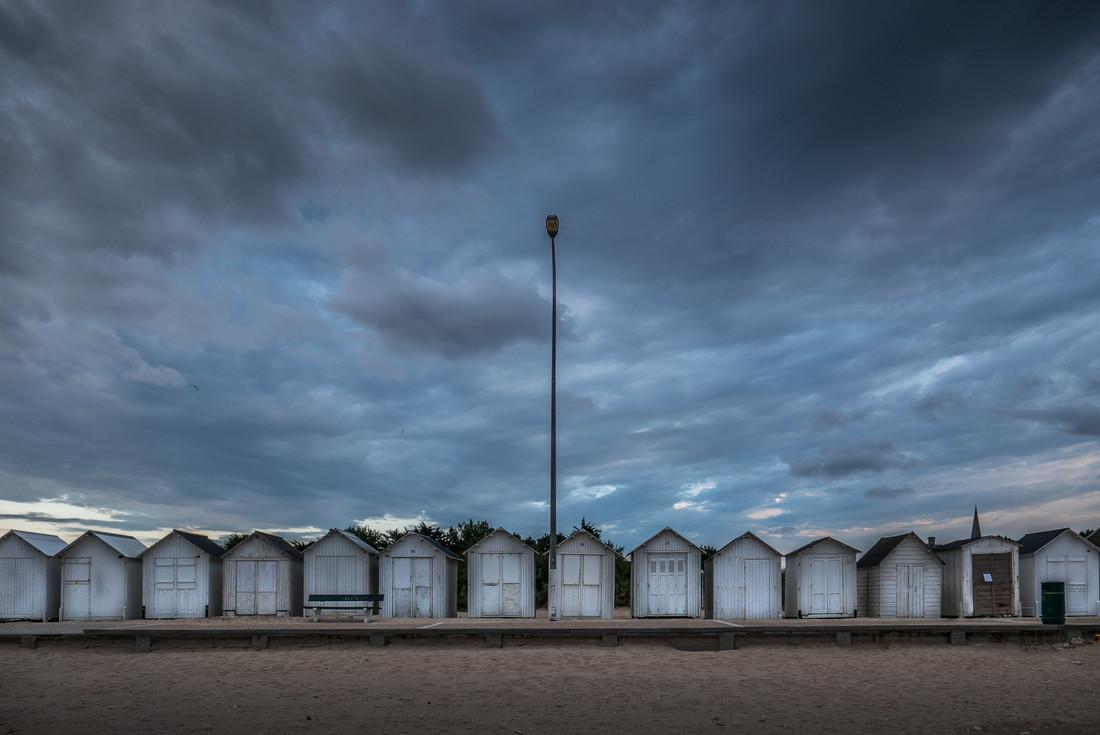 Cabines de plage, Normandie, France