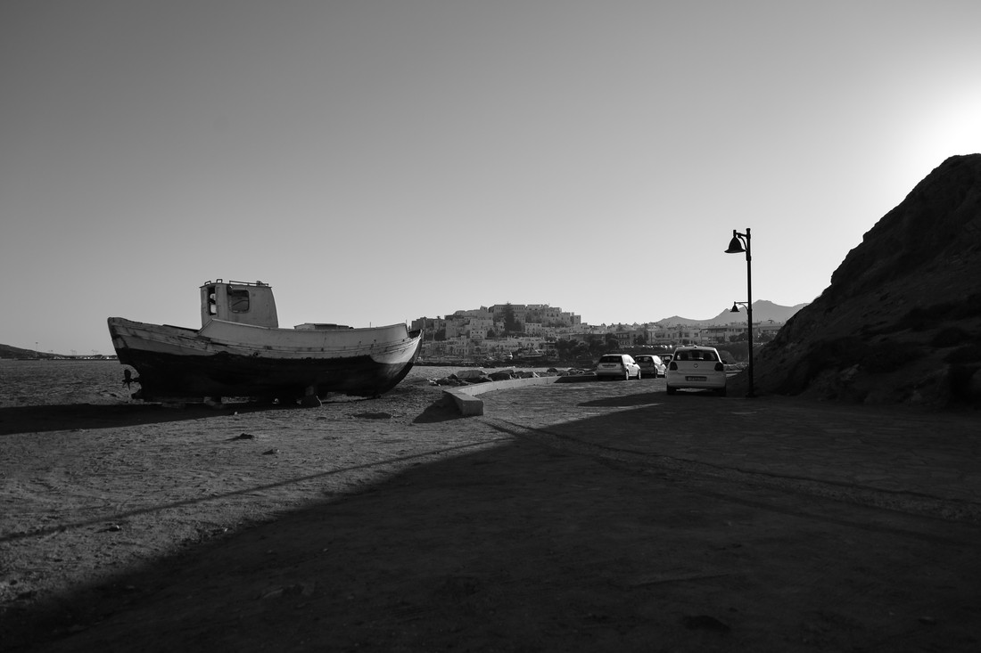 Le vieux bateau, Naxos, Grèce