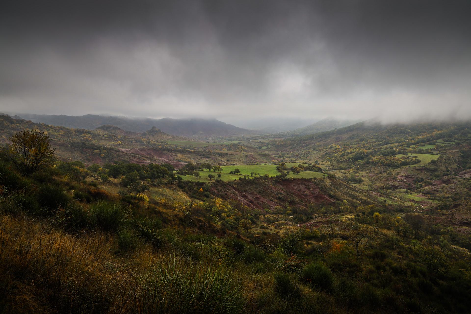 Dans les hauteurs de l'Hérault, France
