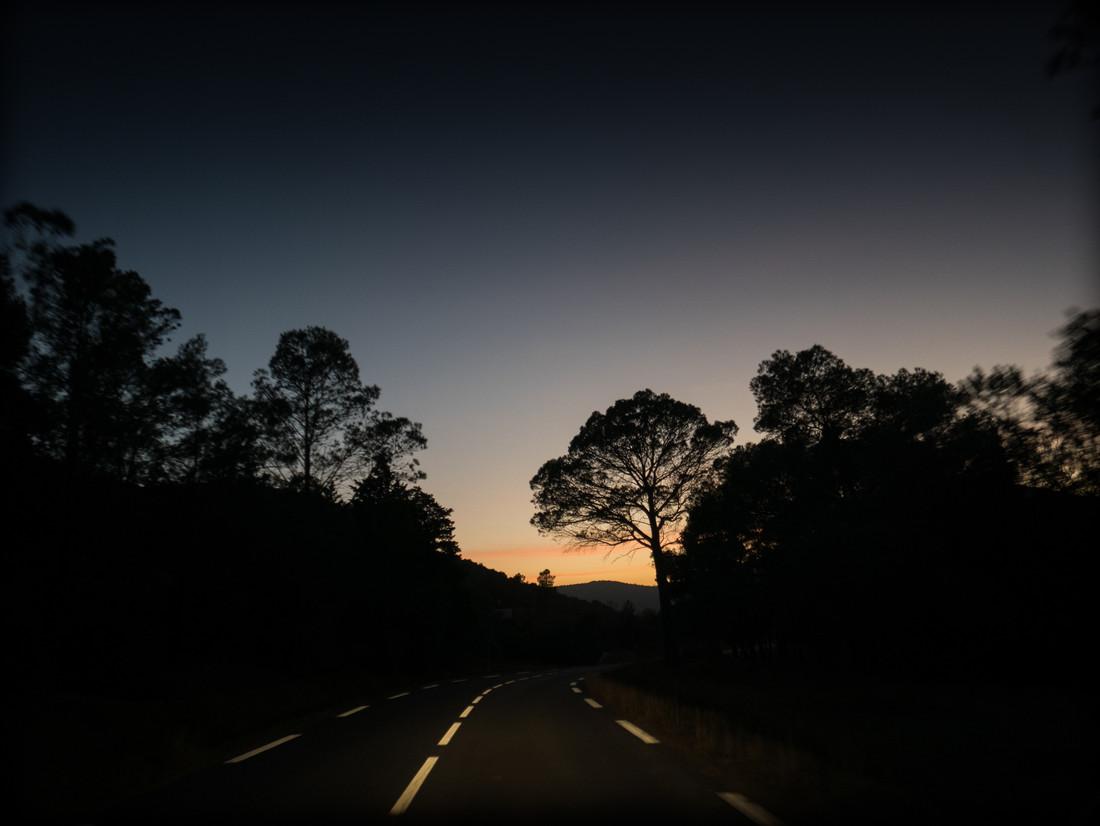 Crépuscule dans l'Hérault, France