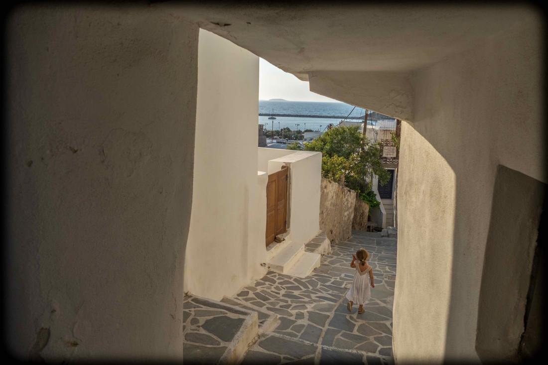 Ruelle de Chora, ile de Naxos, Cyclades