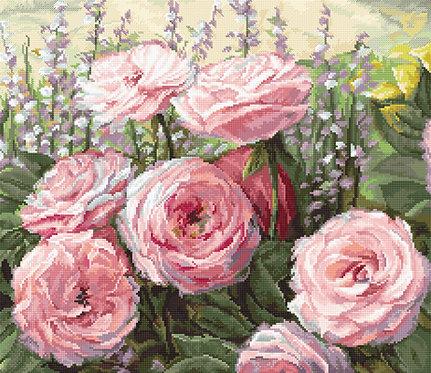 LETI 952 Rosas de verano - LETISTITCH - Kit de Punto de Cruz