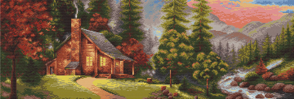 B451 In the mountains - Cross Stitch Kit Luca-S