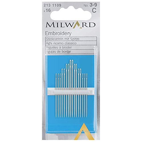 № 18-24 Milward Tapestry Hand Sewing Needles 16 Pack