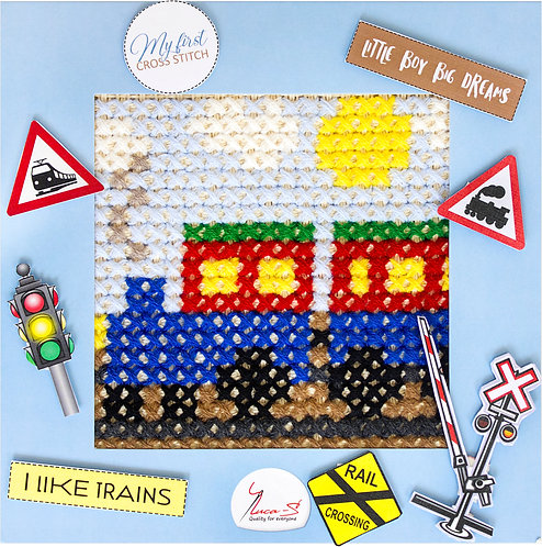 X05 The train - Cross Stitch Kit Luca-S