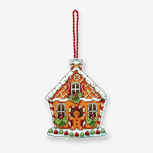 Casa de jengibre - 70-08917 Dimensions - Kit de punto de cruz