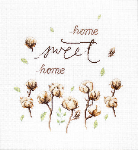 B2347 Algodón / Home Sweet Home - Luca-S - Kit de Punto de Cruz