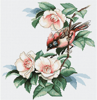 Bird Among Flowers