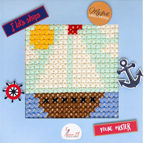 X10 The boat - Cross Stitch Kit Luca-S