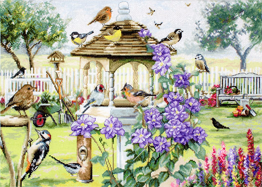 LETI 944 Bird table - LETISTITCH - Kit de Punto de Cruz