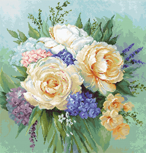 B2370 Floral bouquet - Cross Stitch Kit Luca-S
