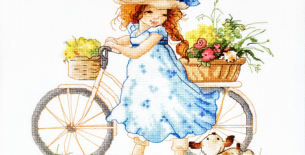B1129 Out for a walk - Cross Stitch Kit Luca-S