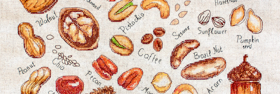 B1165 Nuts and seeds - Cross Stitch Kit Luca-S