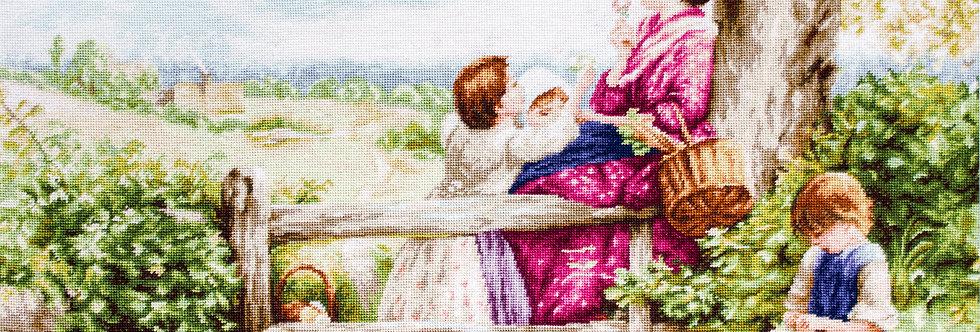 B562 Summer Flowers - Cross Stitch Kit Luca-S
