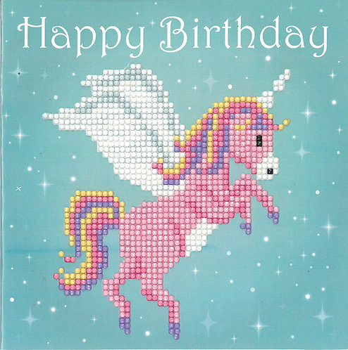 Unicorn Greeting Card - Vervaco - Kit para mosaico