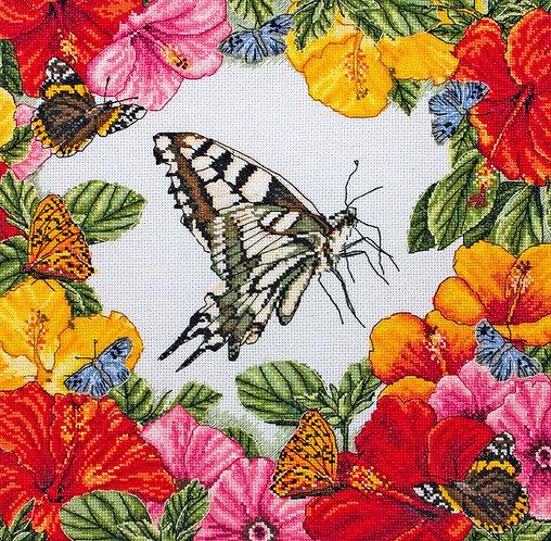 Mariposas de la primavera - Maia Collection - Kit de punto de cruz