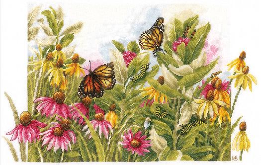 Mariposas y Flores - Lanarte - Kit de punto de cruz