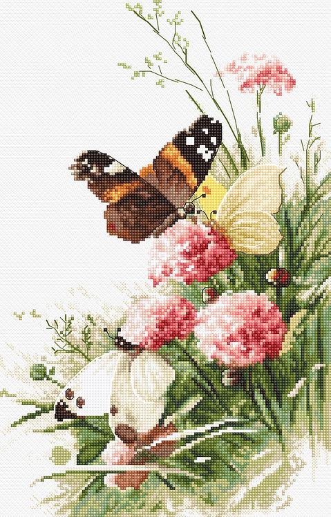 LETI 938 Butterflies in the field - Kit de Punto de Cruz LETISTITCH