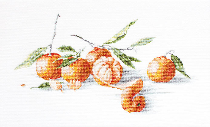 Still life of tangerines