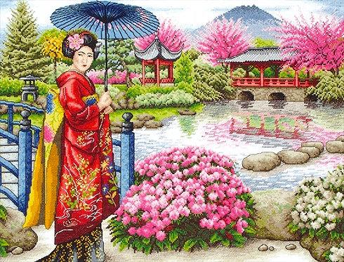 El jardín japonés - Maia Collection - Kit de punto de cruz
