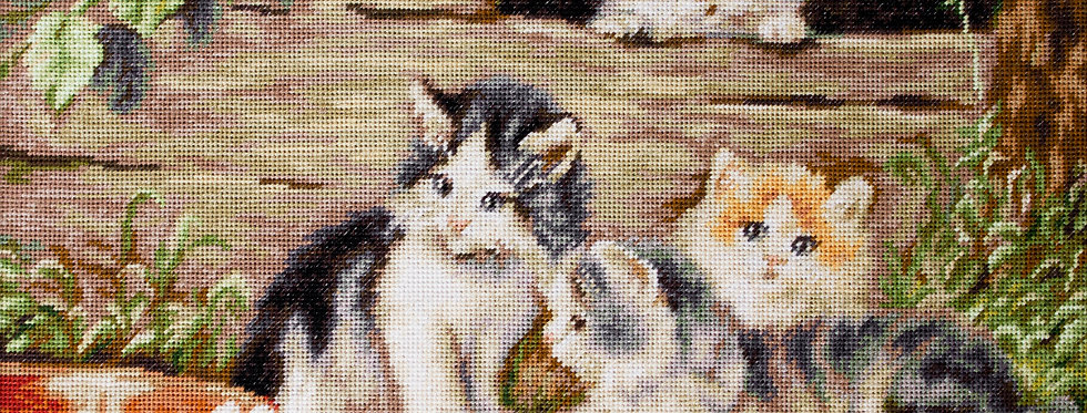 G556 Kittens - Petit Point Kit Luca-S