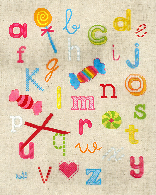 ABC con dulces  - Vervaco - Kit de punto de cruz