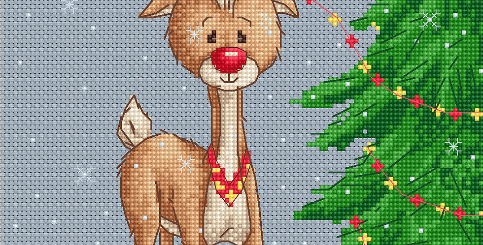 B1043 Denny Deer - Cross Stitch Kit Luca-S