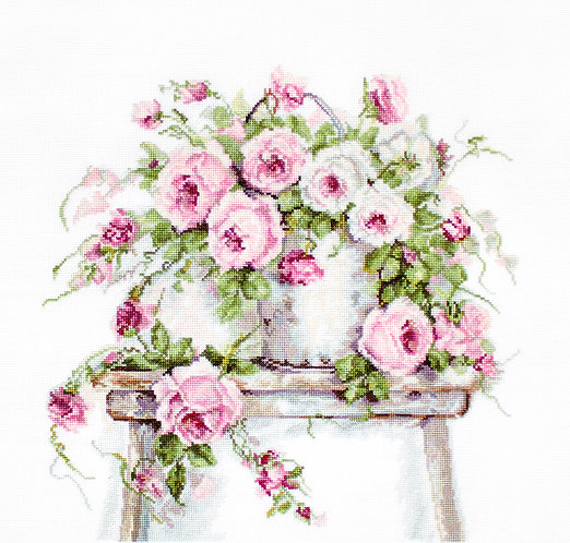 B2331 Roses on a Stool