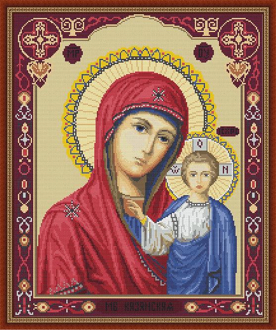 B446 Icon of Kazan Mother of God