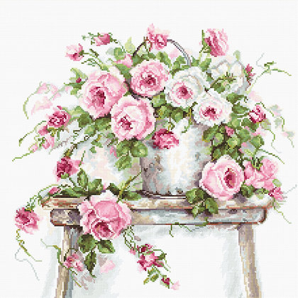Roses on a stool - Belana 20 ct.