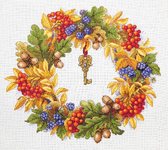 K-99 Autumn Wreath - Merejka - Kit de punto de cruz