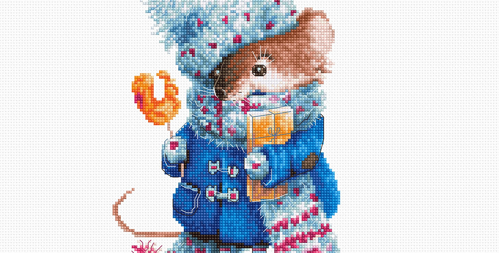 B1168 Christmas Mouse - Cross Stitch Kit Luca-S