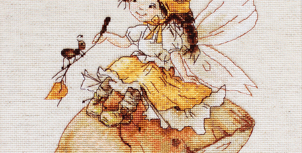 B1109 The fairy with mushrooms - Cross Stitch Kit Luca-S