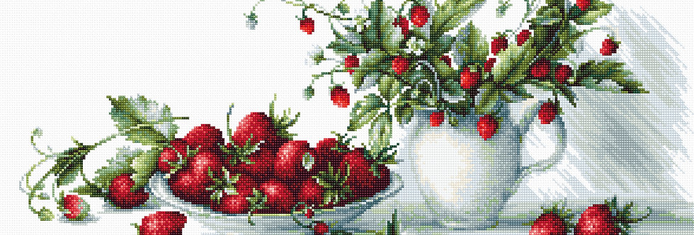 B2277 Strawberries - Cross Stitch Kit Luca-S