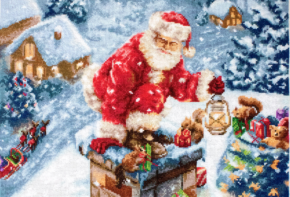 B577 Santa Claus - Christmas Gifts - Cross Stitch Kit Luca-S