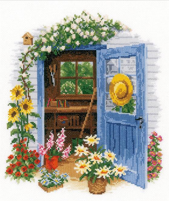 Mi caseta de jardín - Vervaco - Kit de punto de cruz
